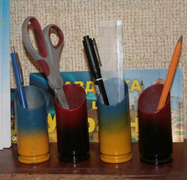Сувеніри - підставки для олівців з гільзи