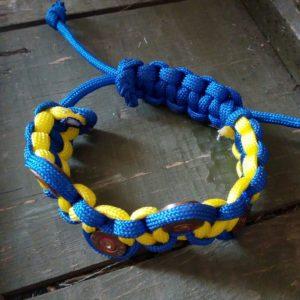 Сувенір - патріотичний браслет із гільз