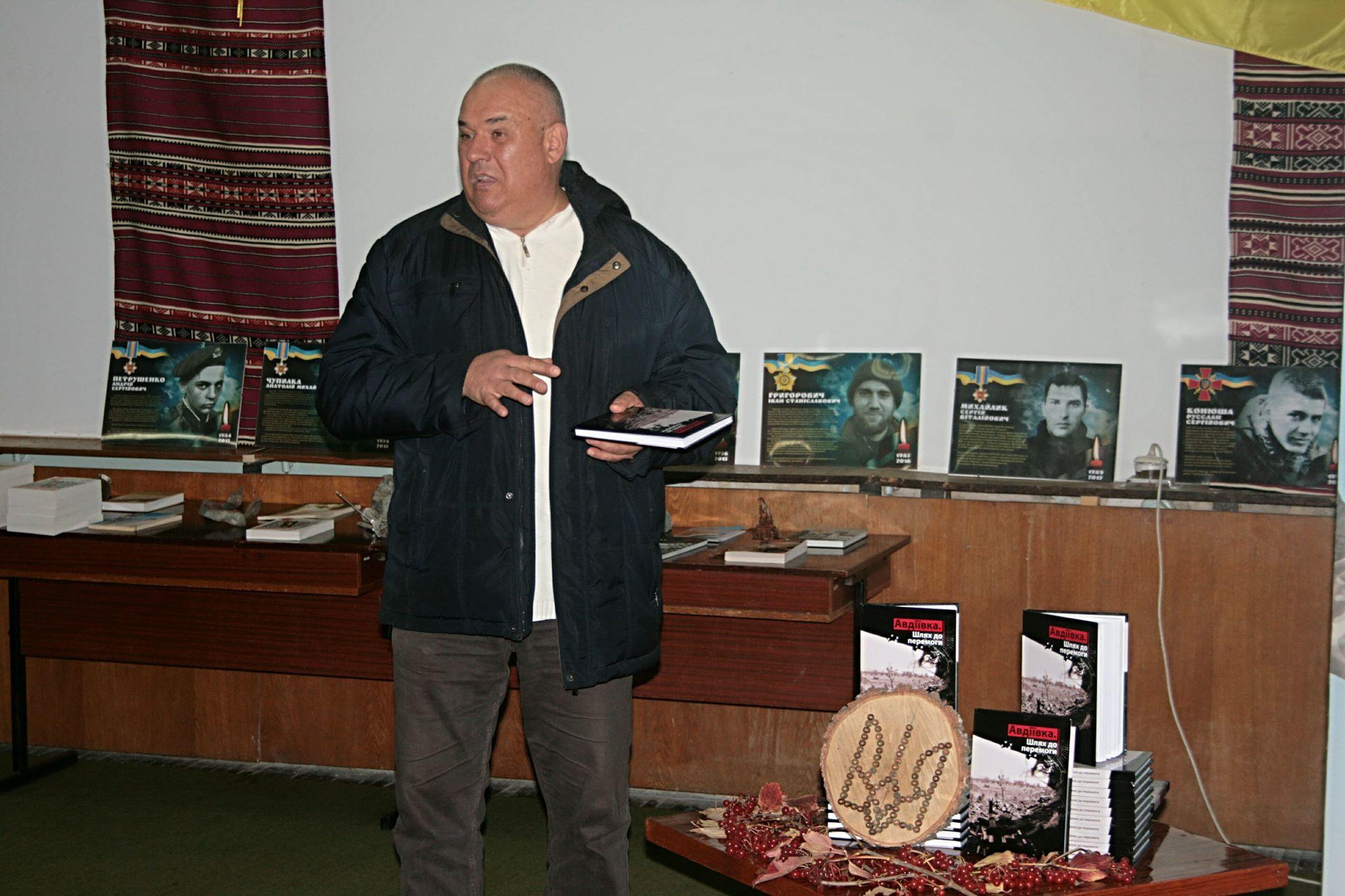 Юрій Паньковецький. Один з героїв книги, начмед 53 бригади на презентації книги Шлях до перемоги у Каневі