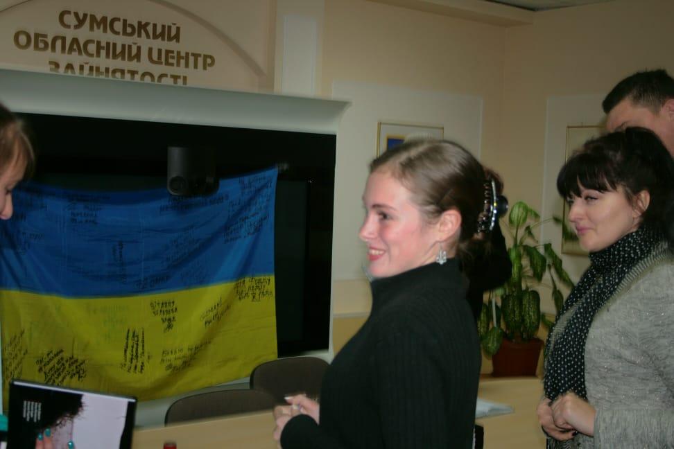 Аліна Косовська на презетнації в Сумах