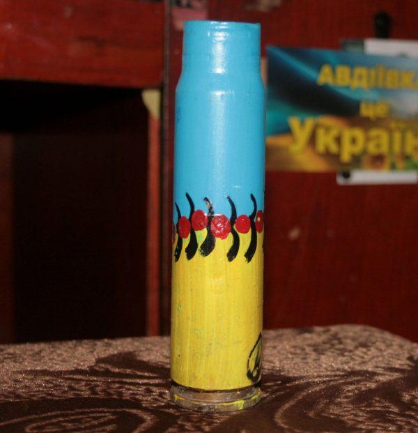 Символи України - декорована гільза-сувенір