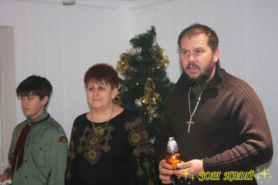 Тетяна Переверзєва, очільниця авдіївського осередку Пласту, та військовий капелан