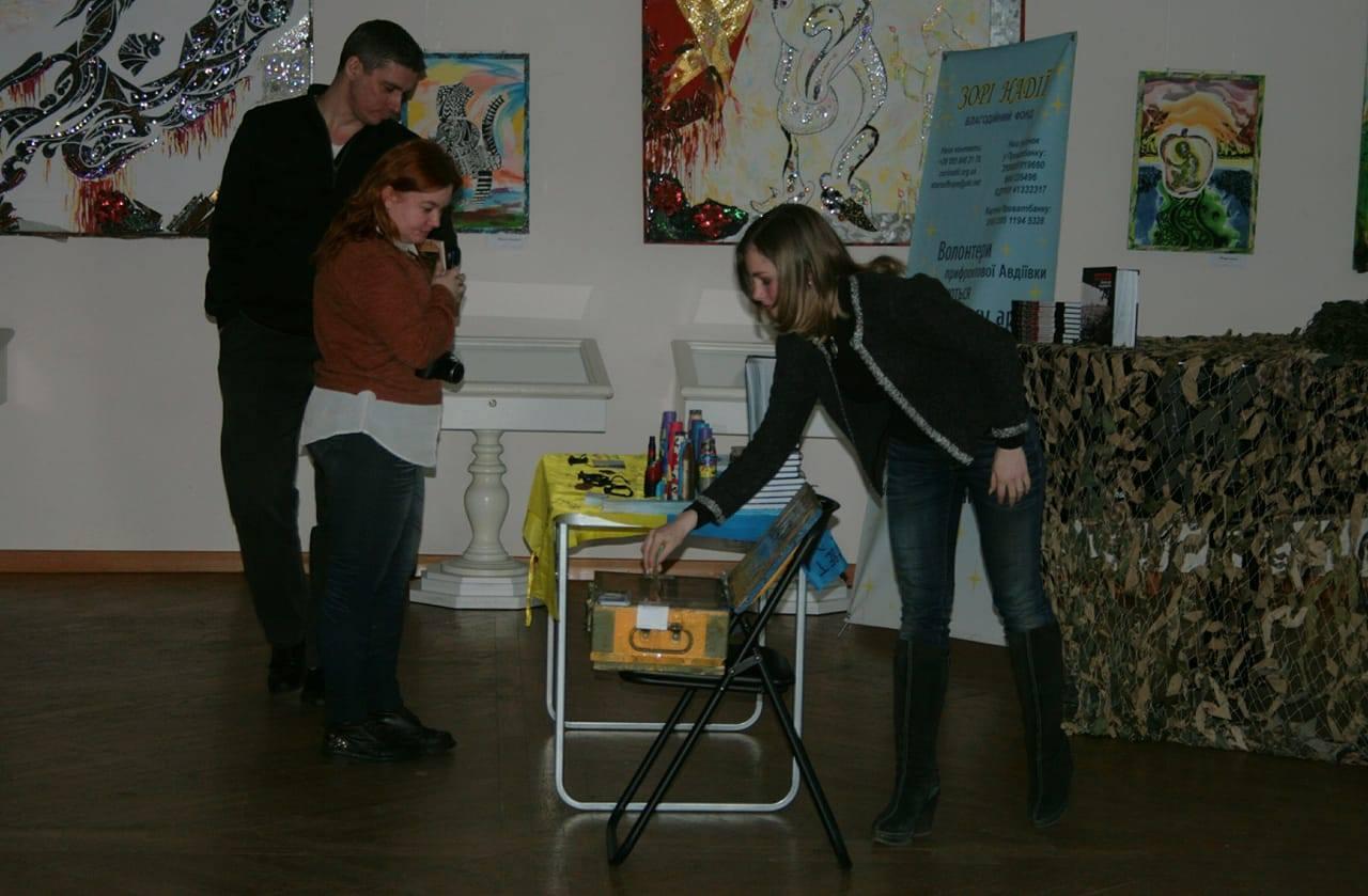 Аліна Косовська і незвична скринька для пожертв