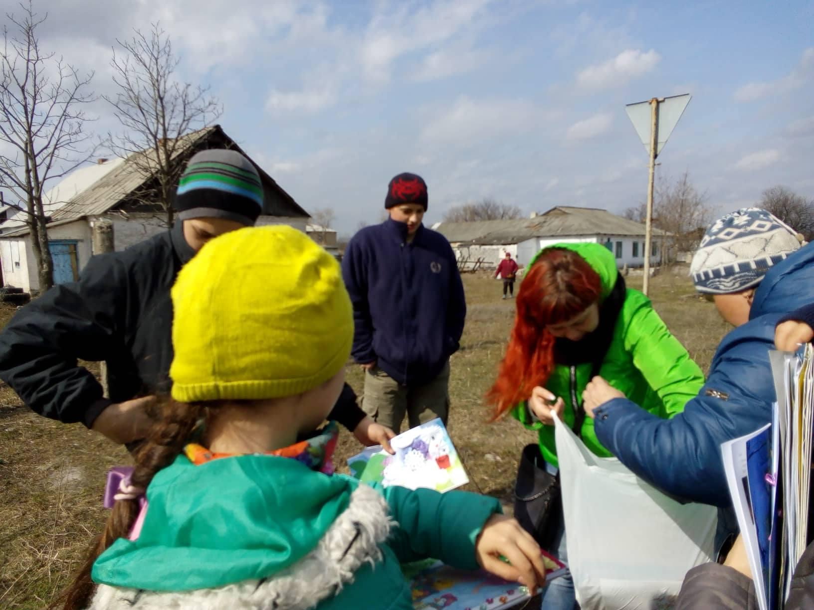 З дітьми села Кам'янка працювала наша волонтерка Яна Слідевська