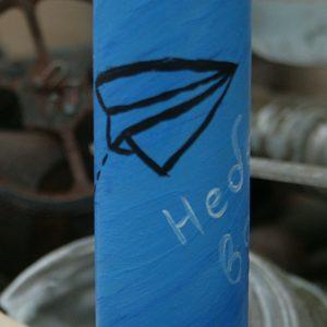 """Сувенір: """"Небесна варта"""". Декорована гільза від БМП"""