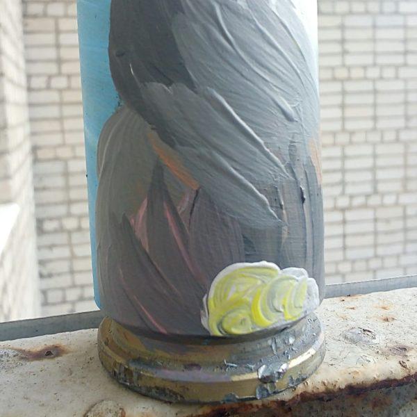 Сувенір - Декорована гільза від БМП - Акриловий заєць
