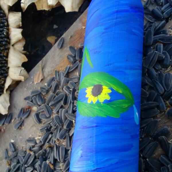 сувенір - декорована гільза - сонях з відтінком війни
