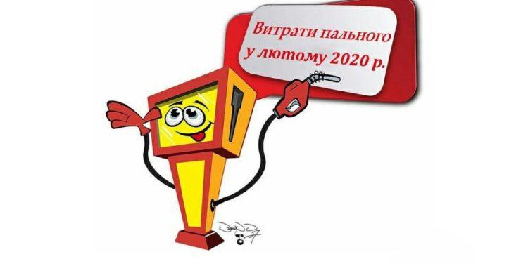 Витрати пального у лютому 2020