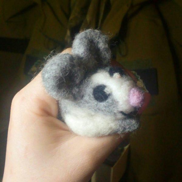 Мишка з вяленої шерсті