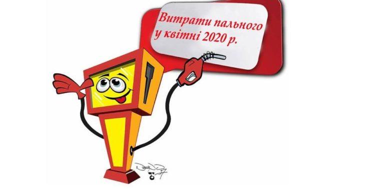 Витрати пального у квітні 2020