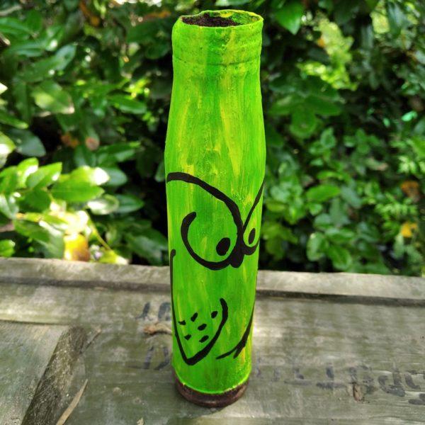 Сувенір - декорована гільза - Сова в літньому лісі