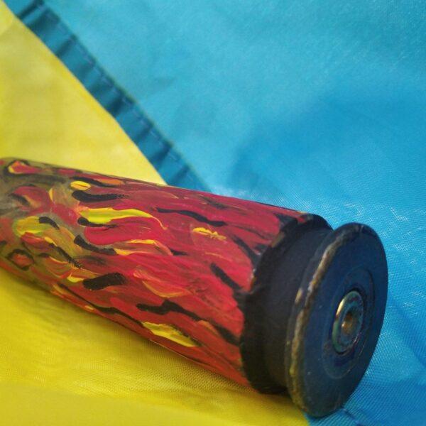 """""""Пекельне полум'я"""". Декорована гільза 14,5 мм"""