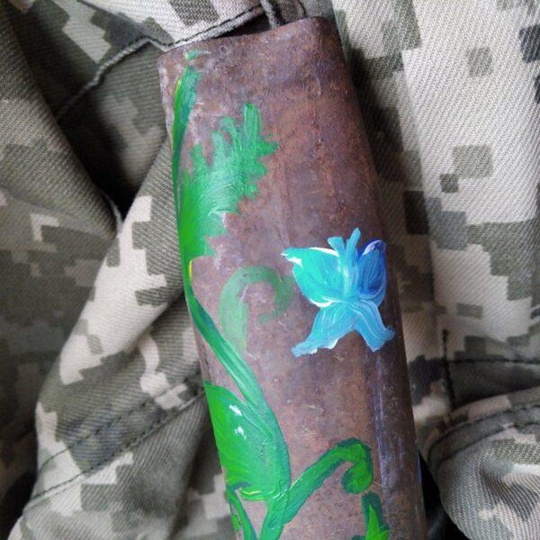 Петриківська квітка - Декорована гільза