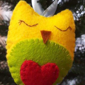 Різдвяна сова з фетру