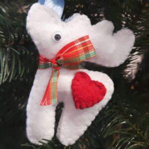 Різдвяний олень з фетру