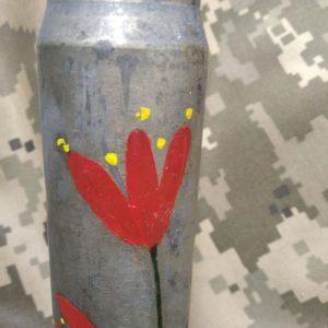 Тюльпани - Декорована гільза від БМП
